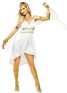 2020 OvedcRay Greek Goddess Olympia Venus Costume Roman Athena Short Toga Dress White Sexy and more Sexy Costumes for Women, Women's Halloween Costumes for Greek Goddess Dress, Greek Goddess Costume, Toga Dress, Dress Up, Costume Athena, Greek God Costume, Greek Costumes, Pretty Woman Costume, Costume Craze