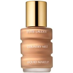 Estee Lauder Country Mist Liquid Makeup Foundation 1 oz ($25) ❤ liked on Polyvore featuring beauty products, makeup, face makeup, foundation, beauty, faces, country beige, estée lauder, spray foundation and estee lauder foundation