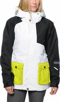 Nikita Dyngja White & Black 10K Girls Snowboard Jacket 2014 at Zumiez : PDP
