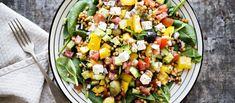 Helppo ja ruokaisa salaatti syntyy valmiista Pirkka linsseistä. N. 2,00€/annos.