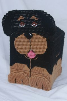 everything plastic canvas | Plastic Canvas- 3D Rottweiler Tissue Topper Plastic-Canvas-Kits.Com