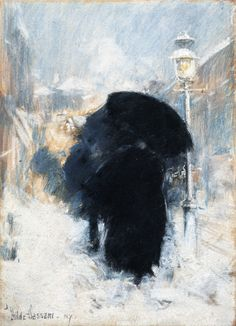 A New York Blizzard — Childe Hassam | biblioklept