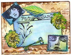 Blue Post Card Envelope (mine) | by MrsSawbones