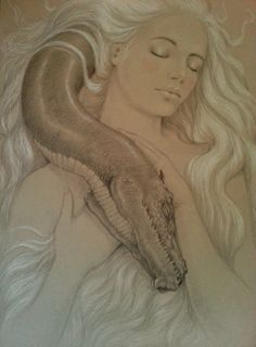 Original Art Mother of Dragons Game of Thrones Daenerys
