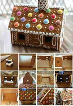 Fabriquer une maison en pain d'épices pour Noël Gingerbread House Parties, Christmas Gingerbread House, Christmas Diy, Merry Christmas, Xmas, House Party, Wedding Cakes, Desserts, Crafts