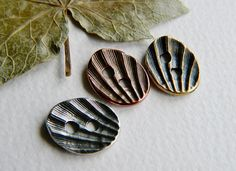 Small Metal Buttons Shell Buttons Antique by BeadsandmorebyYashma