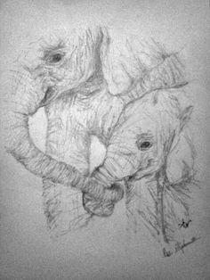 Pencil elephants