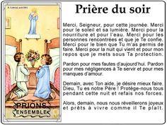 Prières du Soir Catholic Prayers, God First, Jesus Loves, Faith Quotes, Jesus Christ, Bible Verses, Affirmations, Religion, Meditation
