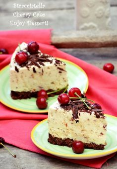 Cherry Cake, Cheesecakes, Delicious Desserts, Food And Drink, Ice Cream, Homemade, Baking, Sweet, Meringue