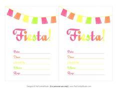 Mexican Fiesta Invitation Templates Free Quotfiesta Invites