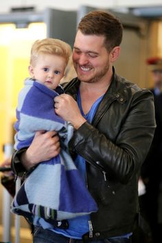 *EXCLUSIVE* Michael Buble and his son Noah make it home **NO Canada, Germany, Austria**