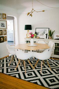 Interior Design: Gorgeous Dining Room by Hello Lidy - Entertain Ideas Hogar, Apartment Interior Design, Interior Decorating, Decorating Ideas, Craft Ideas, Small Dining, Eclectic Decor, Dining Room Design, Beautiful Interiors