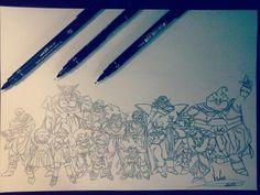 Desenho finalizado dragon ball z