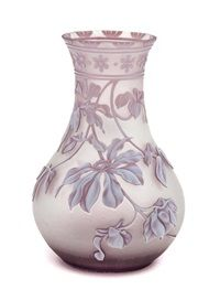 A Thomas Webb Sons Cameo Glass Vase Heigh 6 inches by Thomas Webb and Sons Co.