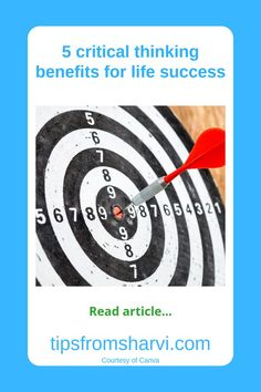 #ad 5 critical thinking benefits for life success (Full disclosure on my blog) #criticalthinking #problemsolving