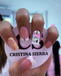 Mani Pedi, Manicure And Pedicure, Unicorn Nail Art, Nail Mania, Pretty Nail Art, Elegant Nails, Hair And Nails, Nail Art Designs, Hair Beauty