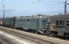 SBB Ae 4/6 III, ehemalige Gasturbinenlok, Yverdon, 1972 Swiss Railways, Oil Rig, Electric Locomotive, Bahn, History, Vehicles, Ships, Pictures, Europe