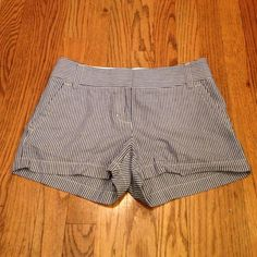 """J Crew Shorts J Crew  """"Hayden Cromie"""" blue/white stripe shorts w/ 3"""" inseam.  Pre worn. Like new condition! J. Crew Shorts"""