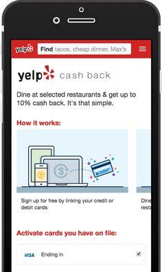 Yelp Launches Cash Back Rewards Program