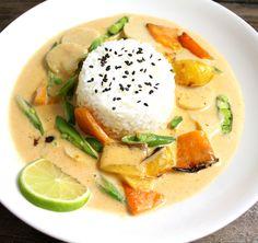 Vegansk thaigryte med kremet saus