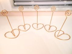 SET OF 10 Gold table number holders by BellaBrideCreations on Etsy