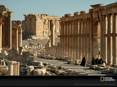 Palmyra - the city in the oasis. Aurelian destroyed the city after its residents betrayed the recently-established peace. It never recovered.