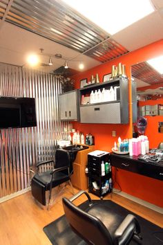 Love the sleek look nouveau salon, salon studio, hair studio, small salon,