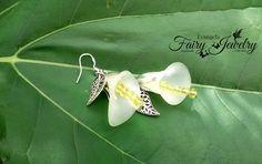 Orecchini calle argento 925 acciaio inox lucite gioielli natura giardino, by Evangela Fairy Jewelry, 8,00 € su misshobby.com