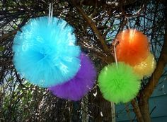 "8"" Decorative Tulle Ball - 4 Tulle Balls - Free Shipping! by MyLACrafts on Etsy"
