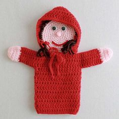 Red Riding Hood Crochet Pattern Original Red Riding Hood Crochet Pattern Design By: Joy Lewis Skill Level: Intermediate Materials:Yarn Needle; Hot or Craft Glue; Sport or Worsted Weight Yarn: Red Ridi
