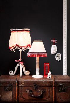 Lampenschirme mit Bordüren, DIY, produziert für Neues Zuhause