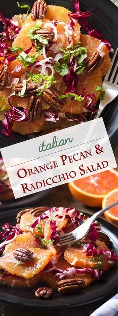 Italian Orange, Radicchio, and Pecan Salad