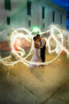 Scarpaci Photography sparklers wedding picture