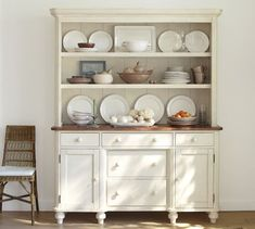 Cottage Vintage White Buffet And Hutch From Pottery Barn Why Oh Why Is It No