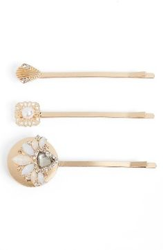 Berry Set Of 3 Victorian Bobby Pins