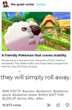 Internet Reacts To The New Pokémon Sword And Shield Trailer - Funny Pokemon - Funny Pokemon meme - - Wooloo is after everyones confrontation-avoiding heart. The post Internet Reacts To The New Pokémon Sword And Shield Trailer appeared first on Gag Dad. Pokemon Memes, Pokemon Comics, Pokemon Funny, Pokemon Go, Pokemon Stuff, Funny Cat Compilation, Funny Cat Videos, Pokemon Fusion, Cat Memes