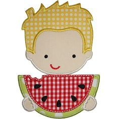 Watermelon Boy Applique