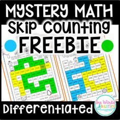Proficiency in skip counting is so important for understanding number patterns and developing a solid foundation of number sense for more advanced math concepts. These unique & differentiated no-prep mazes and puzzle charts provide kids with skip counting practice as they solve fun mysteries!Thi... Teaching Numbers, Math Numbers, Number Sense Kindergarten, Kindergarten Math, Math Fact Fluency, Number Patterns, Math Graphic Organizers, 1st Grade Math, Second Grade