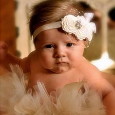 My baby girl will wear cute headbands like this one!