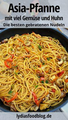 Shrimp Recipes For Dinner, Healthy Dinner Recipes, Veggie Recipes, Asian Recipes, Pasta, Easy Casserole Recipes, Eat Smart, Soul Food, Food Videos