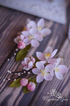 Новости Polymer Clay Flowers, Polymer Clay Crafts, Handmade Polymer Clay, Polymer Clay Jewelry, Sugar Flowers, Fake Flowers, Small Flowers, Diy Flowers, Cold Porcelain Flowers