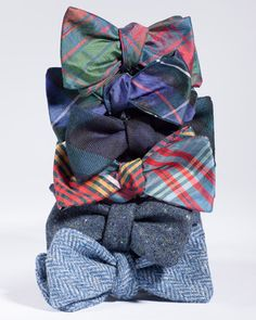 Wool and Silk Bowties, by Holland & Sherry Bespoke Der Gentleman, Men Accesories, Toddler Bows, Silk Bow Ties, Tie Styles, Best Gifts For Men, Well Dressed Men, Dress To Impress, What To Wear