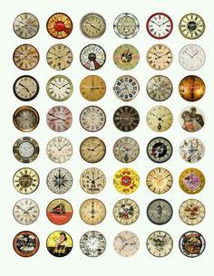 Vintage clock clip art