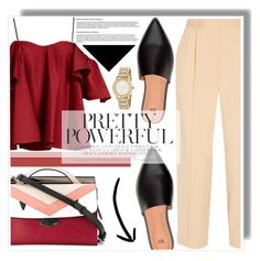 """Pink & Pretty Poweful"" by anne-mclayne ❤ liked on Polyvore featuring Fendi, Anna October, The Row and DKNY"
