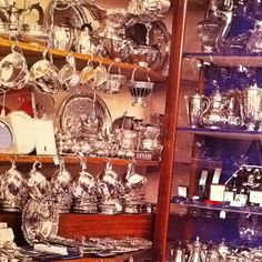 The London Silver Vaults. I have been there and love that place. It is under the streets of London.