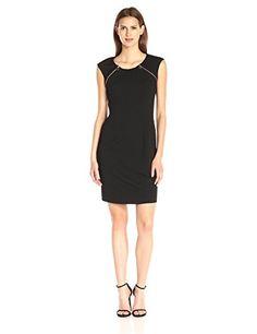 Calvin Klein Women's Textured Dress with Zip At Yoke  http://stylexotic.com/calvin-klein-womens-textured-dress-with-zip-at-yoke/