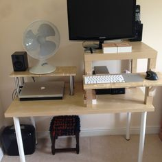 Ikea LACK hack – stand up desk – home office idea