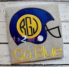 Football Helmet Monogram Applique - 3 Sizes! | Font Frames | Machine Embroidery Designs | SWAKembroidery.com The Itch 2 Stitch