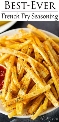 Homemade Fries, Homemade Sandwich, Homemade French Fries, Homemade Seasonings, Garlic French Fries, Deep Fried French Fries, Best French Fries, Frozen French Fries Recipe, Seasoned French Fries Recipe