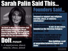 Sarah Palin- misleading or misinformed?